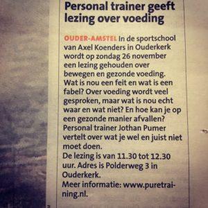 Afvallen, Personal Trainer, Jothan Purmer, Ouderkerk