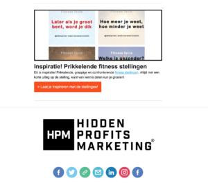 Nieuwsbrief Hidden Profits Marketing